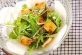 水菜とカブのサラダ