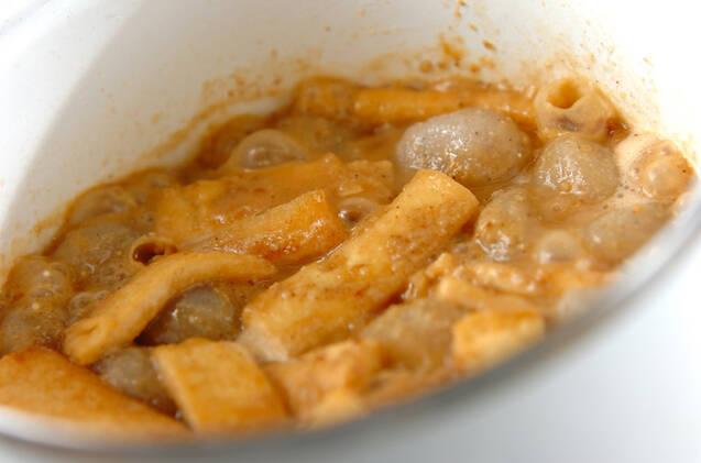 玉コンニャクのゴマみそ煮の作り方の手順5