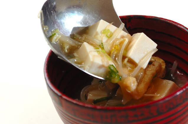 シャキシャキモヤシのみそ汁の作り方の手順5