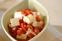 豆腐のサルサソース和え