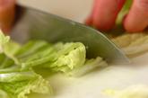 白菜の即席漬けの下準備1