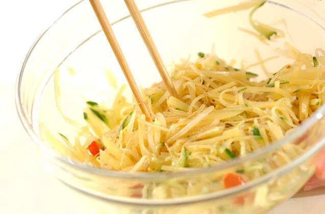 せん切りジャガイモサラダの作り方の手順7