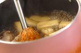 シイタケと油揚げのみそ汁の作り方2