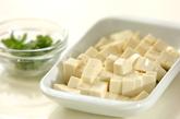 納豆と豆腐のみそ汁の下準備1