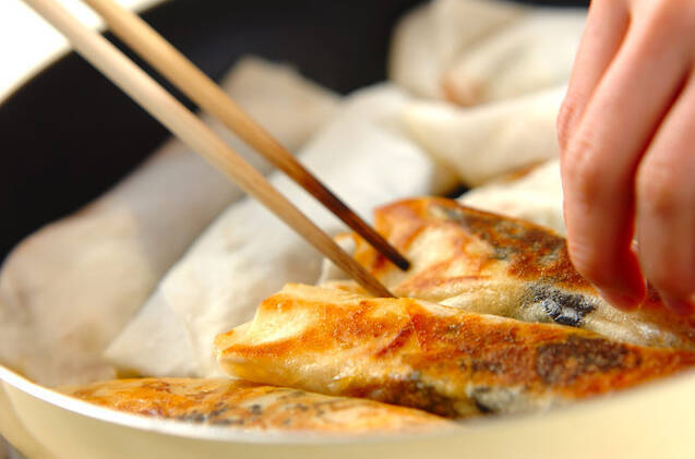 豚キムチ焼き春巻きの作り方の手順9