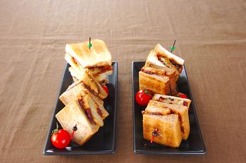粟餅のサンドイッチ