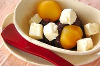 クリームチーズ小豆添え