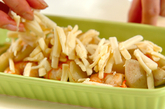 ウドとエビのチーズ焼きの作り方5