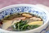 タケノコとハムのスープ