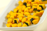 ヒヨコ豆とナッツのサラダの下準備1