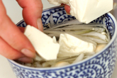 カップ味噌スープの下準備1