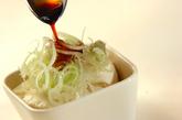 おぼろ豆腐のワサビ添えの作り方1
