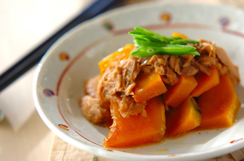 かぼちゃとツナのレンジ煮