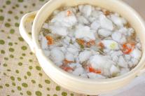 カニのふんわりスープ