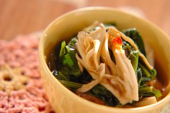 青菜とマイタケのサッと煮