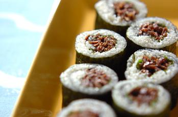 牛しぐれ入り素麺巻き寿司