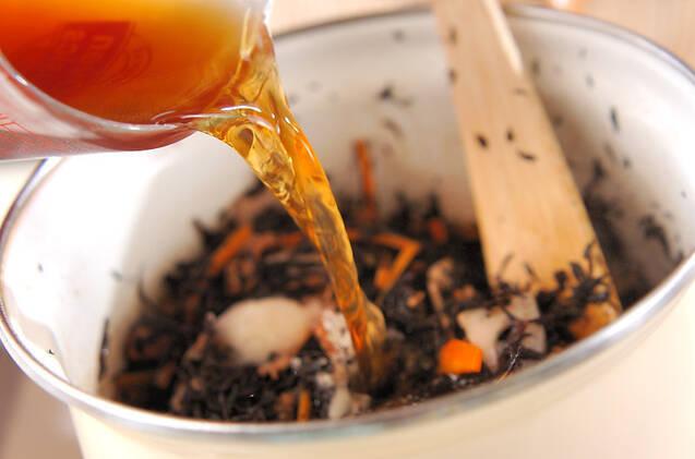 根菜と芽ヒジキの煮物の作り方の手順6