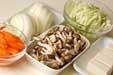 鮭と野菜のみそ蒸し煮の下準備2