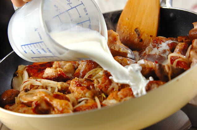 鶏のクリームマスタード煮の作り方の手順6