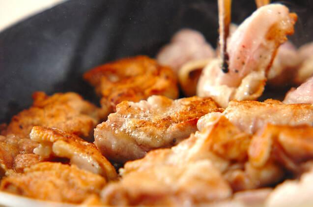 鶏のクリームマスタード煮の作り方の手順4