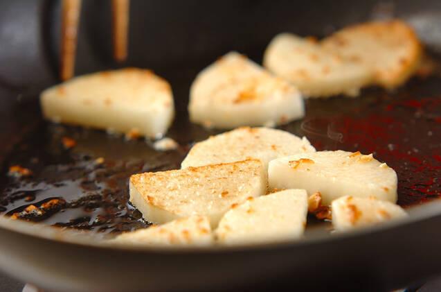 長芋とタコの塩バターソテーの作り方の手順2