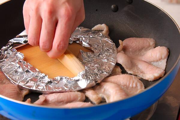 パリパリ鶏皮焼きの作り方の手順4