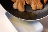 パリパリ鶏皮焼きの作り方2