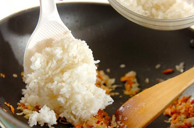 鮭チャーハンオムライスの作り方の手順7