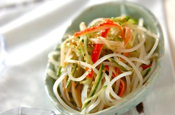 葛きりの中華サラダ