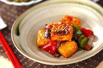揚げ豆腐の甘辛炒め