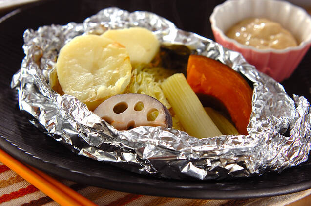 5種の野菜のマヨ醤油ソース添え