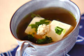 豆腐のショウガスープ
