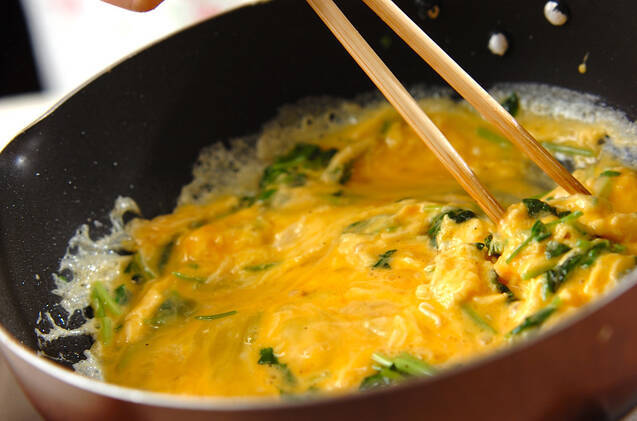 ふわふわエスニック風卵炒めの作り方の手順3