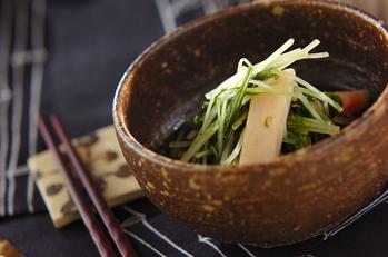 水菜とショウガ天のサッと煮