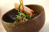 水菜とショウガ天のサッと煮の作り方4
