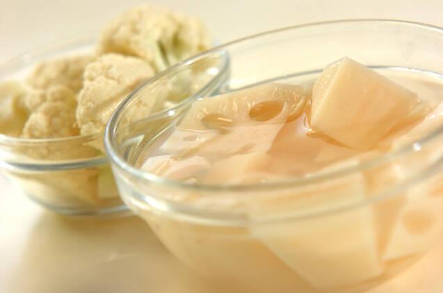 カリフラワーの甘酢漬けの作り方の手順1