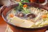 土鍋湯豆腐の作り方の手順
