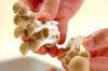 湯葉とシメジのお吸い物の作り方の手順2