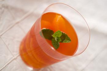 オレンジ紅茶のデザート