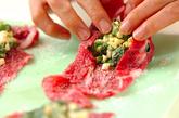 ホウレン草と卵の牛肉巻きの作り方2