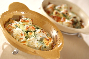 里芋のクリームグラタン