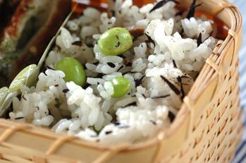 ヒジキ枝豆ご飯