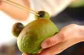 ホウレン草のカエルパンの作り方6