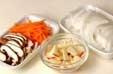 モヤシとニンジンの甘酢の下準備2