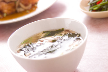 ふわふわ卵長芋のスープ