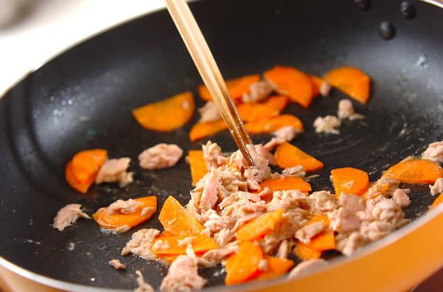 キャベツとツナの炒め物の作り方の手順4