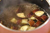 ナスと納豆の田舎みそ汁の作り方の手順3