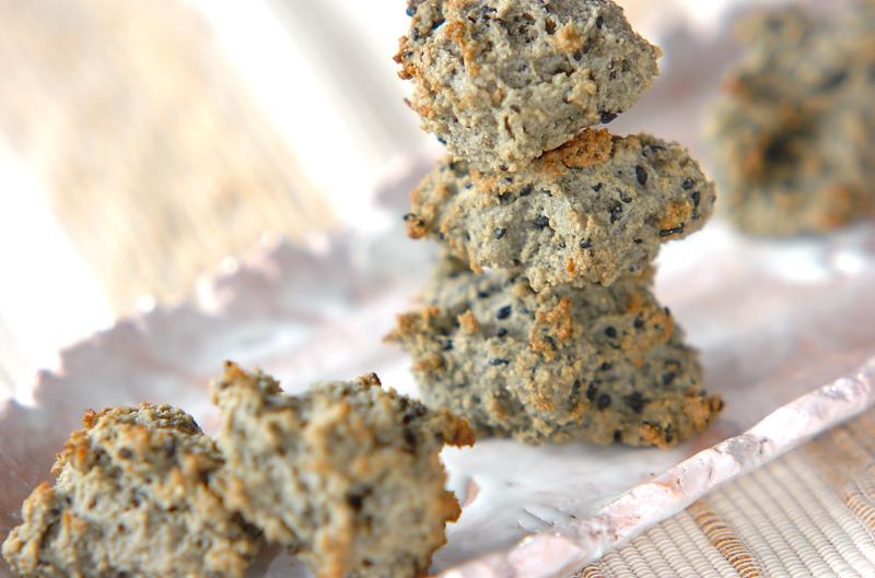 黒ゴマおからクッキー