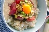 鉄火トロロ玄米丼
