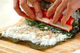新ワカメの巻き寿司の作り方3